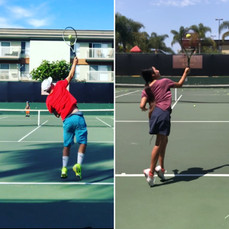 Some comparisons on the serve