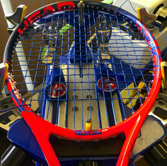 Getting my new racket all dressed up