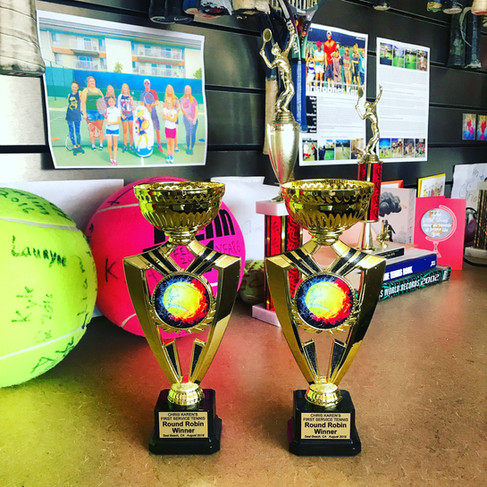 August Round Robin Trophies
