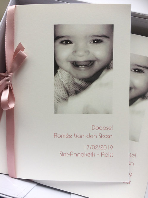 misboekjes doopsel met foto baby