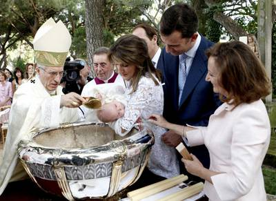 doop prinses Leonore Spanje