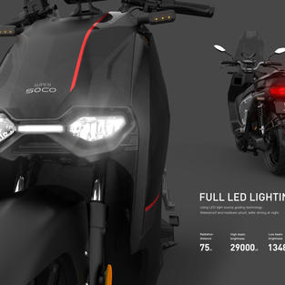 Front and rear led lights