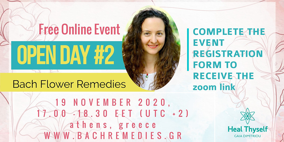 Open Day Bach Flower Remedies (free online event) #2