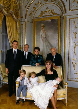 doopsel prins Pierre Monaco