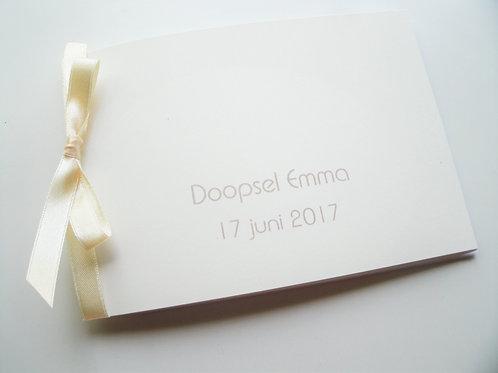 doopsel uitnodiging modern dubbel
