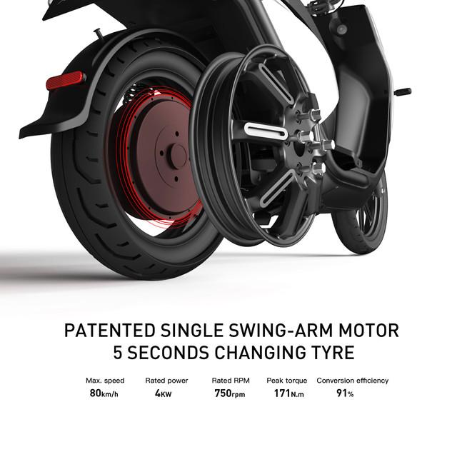Removal rear wheel