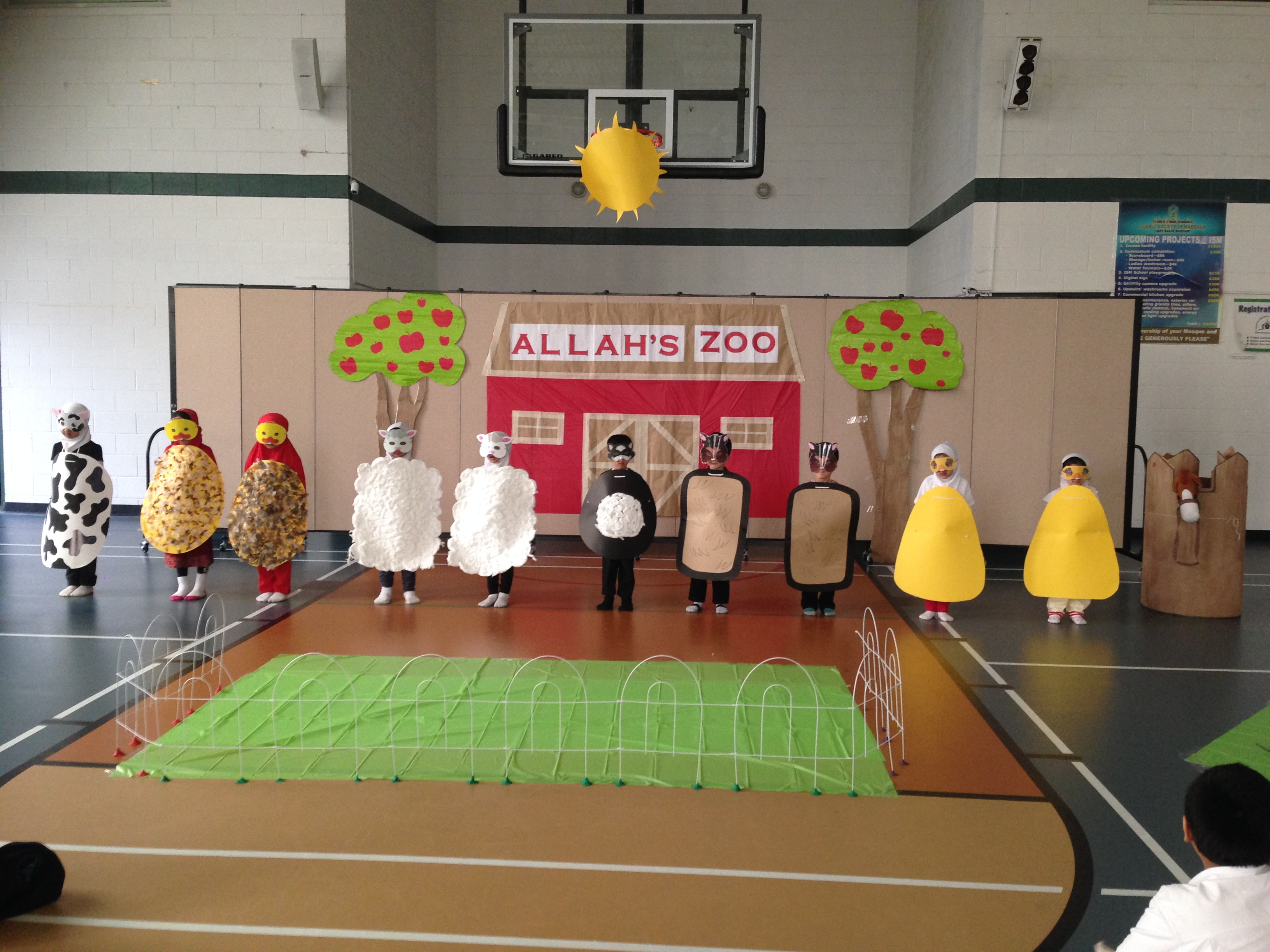 Kindergarten students perform 'Old Mcdonald'