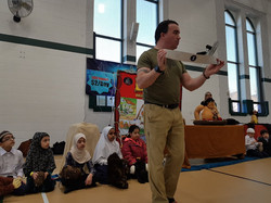 The Rabbit and Bear Paws Theatre Company perform