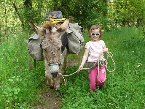 Donkey tour ardèche hike walk