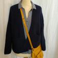 Gilet coton, laine, chemise coton