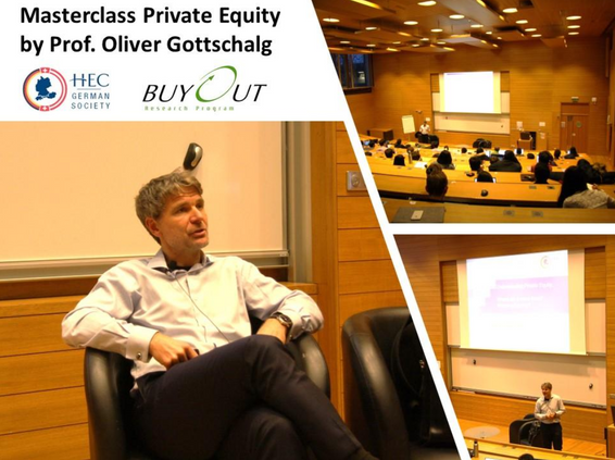 Prof. Oliver Gottschalg gave an inspiring Masterclass on Private Equity tonight. Over 150 Students had the chance to learn about the industry, its development, and challenges in assessing the performance of funds by a leading expert in the field. It was an honour for us as German Society HEC Paris to organize this 3rd annual edition.