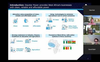 we welcomed Jasper Graf von Hardenberg, CEO of Daystar Power Group, as the third guest of our #webinarseries. He joined us to talk about the situation of the West African energy market and his entrepreneurial experiences. Thank you again Mr. von Hardenberg for your time and the exciting exchange.