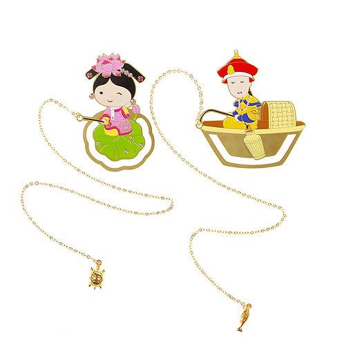 Emperor Yongzheng goes fishing/Little Gege fishing for golden tortoise Bookmark