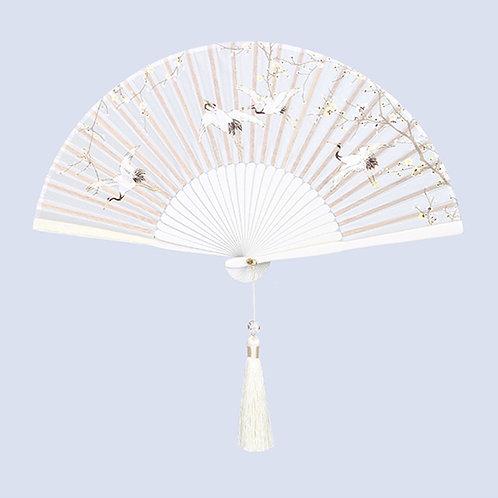 Forbidden City Plum Blossom Crane Folded Hand-fan