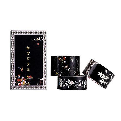Decorative Tape Set - Treasure box inspired Black