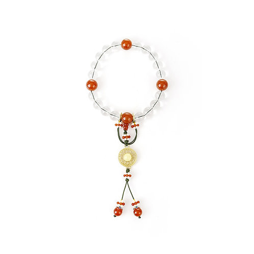 Crystal Amber Buddhist Beads