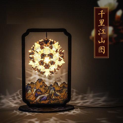 Paper Carving Lamp - Qianli Jiangshan