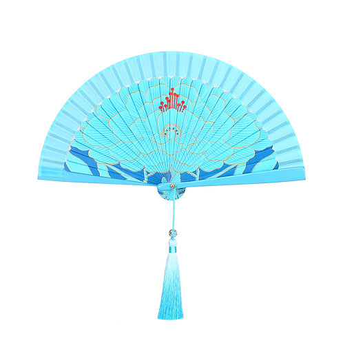 Blue Kingfisher Folded Hand-fan