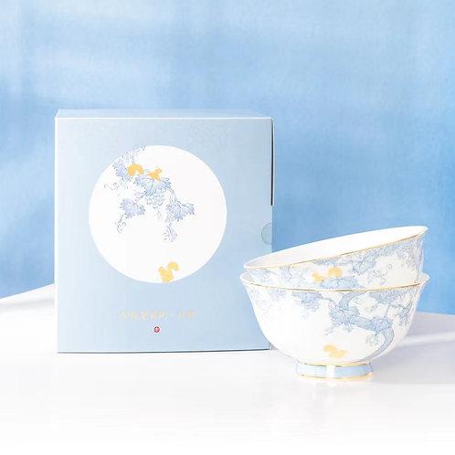 Squirrel & Grape Porcelain Set - Bowl Set