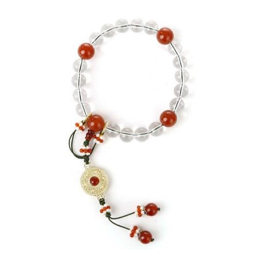 Crystal Agate Buddhist Beads