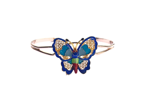 Gold Inlaid Butterfly Bracelet