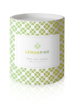 Lemon pine candle