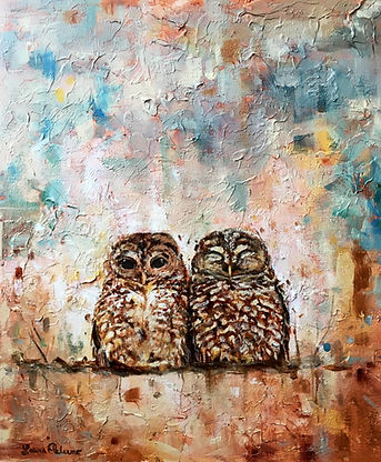 Spotted Owl, endangered, bird, art, painting, charleston, declining, conservation, Laura Palermo, paintings by palermo, nature, wildlife, pretty, owl, abstract