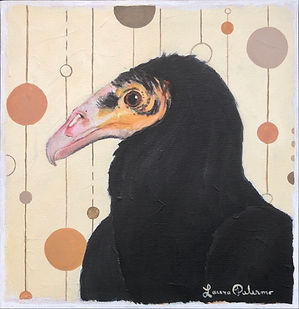 Virginia, vulture, lesser yellow headed vulture, painting, modern, home, decor, print