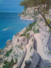 boat, ocean, mediteranean sea, capri, sorrento, Italy, Amalfi, reflections, laura palermo, paintings by palermo