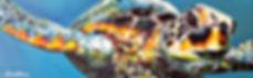 Laura Palermo, Paintings by Palermo, art, painting, sea turtle art, sea turtle, ocean, conservation, endangered, animal, scuba, underwater, Charleston, reef, colorful, nature, blue, South Carolina Aquarium, Loggerhead, Miss Royal