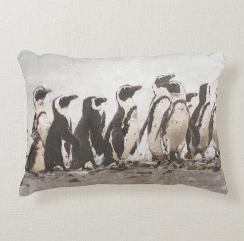 African Penguins Pillow