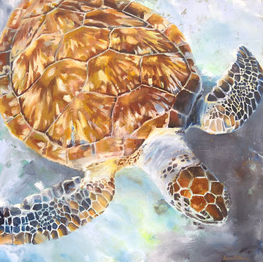sea turtle, art, painting, colorful, underwater, ocean, home decor, beach, sealife, sea, turtle, green turtle, wildlife, conservation, artist, laura palermo, florida oceanographic, rescue