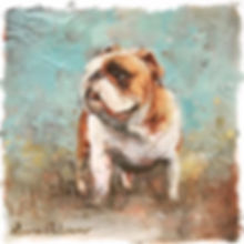 bulldog painting, pet portrait, commisson, puppy, dog, gift, french bulldog, american bulldog