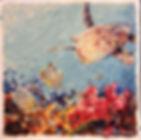 Laura Palermo, sea turtle art, sea turtle, endangered, conservation, sea turtle painting, baby turtle, colorful, painting, Charleston, South Carolina Aquarium, ocean, scuba, Paintings by Palermo