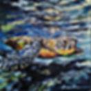 Laura Palermo, Paintings by Palermo, art, painting, sea turtle art, sea turtle, ocean, conservation, endangered, animal, scuba, underwater, Charleston, reef, colorful, nature, blue, South Carolina Aquarium, green turtle