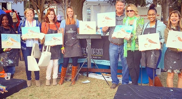 Paintings by Palermo, Laura Palermo, Charleston, Wine and Food Festival, art, conservation, activism, endangered, shorebird, beach, SC, South Carolina