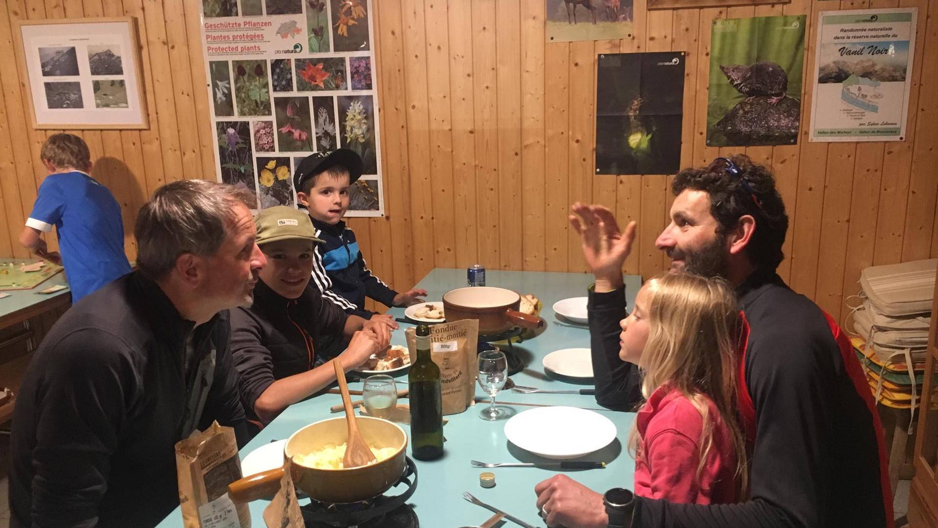 Soirée fondue à Bounavaux