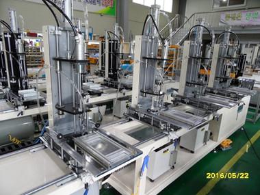 PVC보강재 자동체결기 생산현장