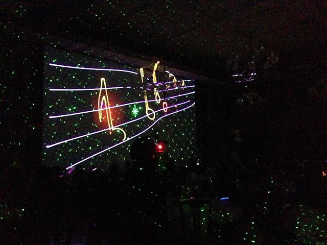 室内レーザーショー2