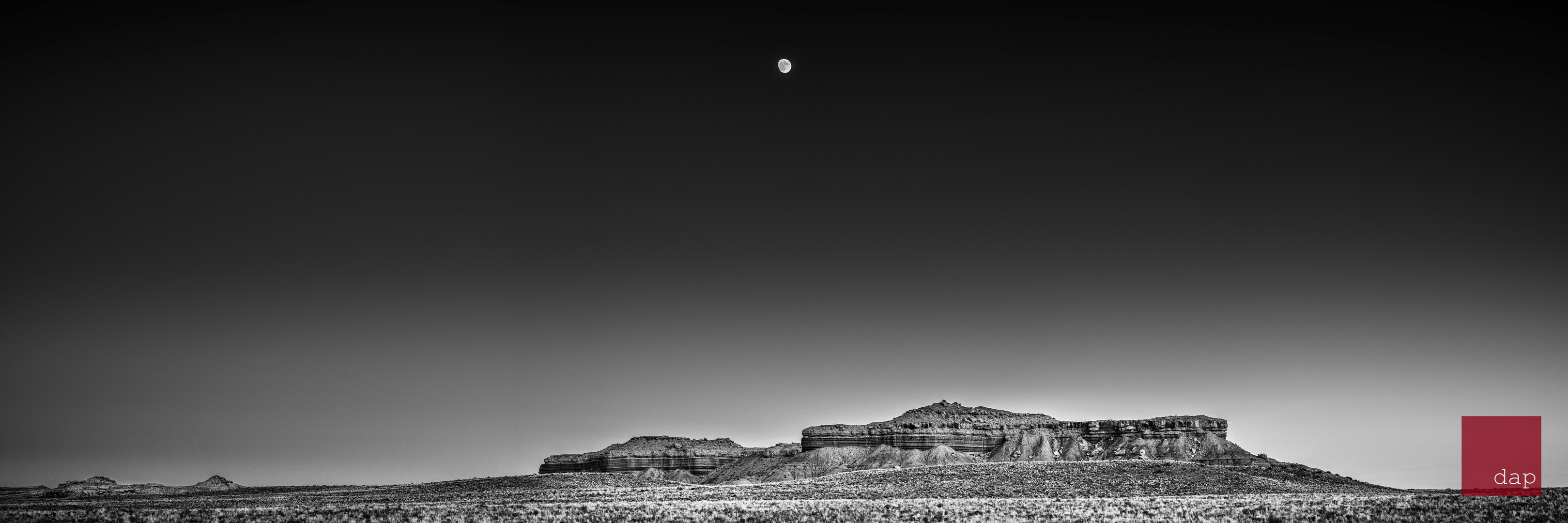Green River Moonrise 1 bw