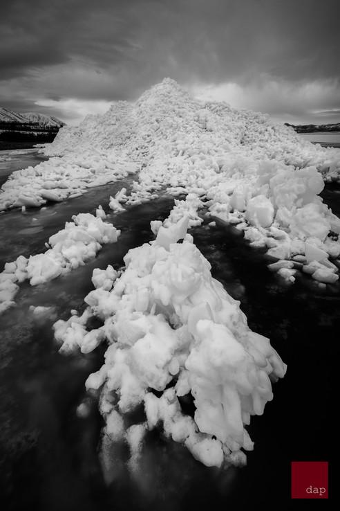 Ice Stacks 9 bw
