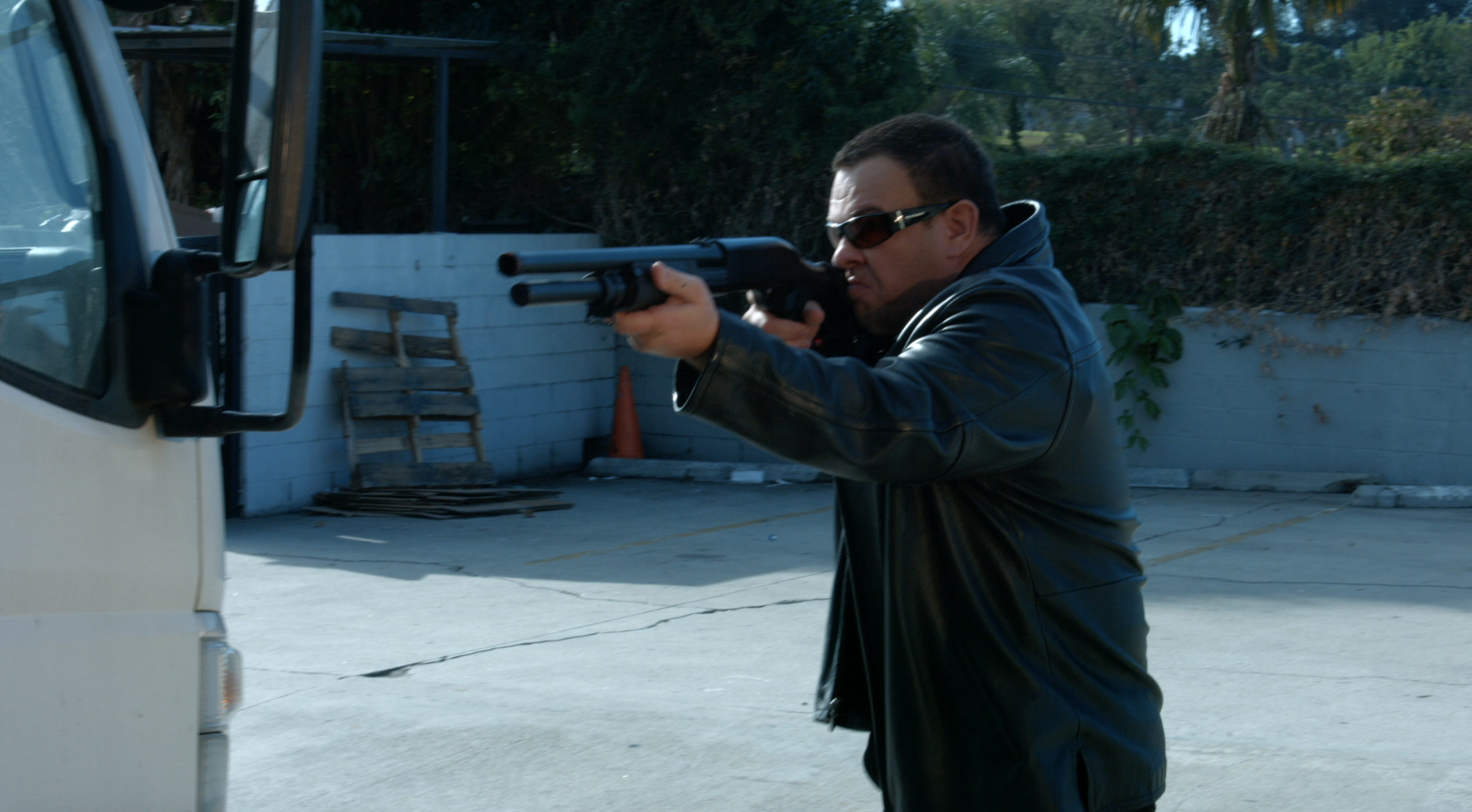 Vinny rocks his shot gun