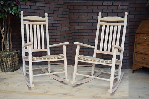 "2 1/2"" Oak Double Back Rocking Chair (sold in sets of two only)"