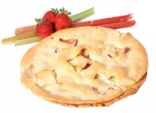 Home Made Strawberry Rhubarb Pie