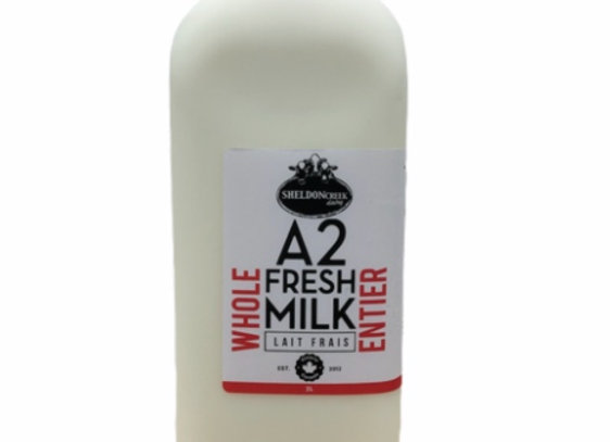A2- Whole Milk- 2L- Sheldon Creek
