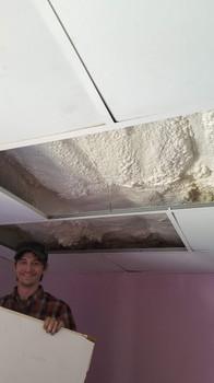 Over ceiling spray