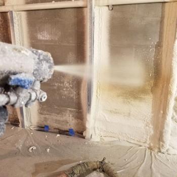 Behind the spray gun