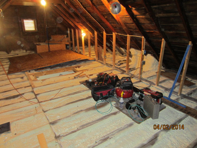 "3"" foam on attic flat"