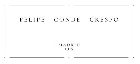 Etiqueta guitarra Felipe Conde Crespo