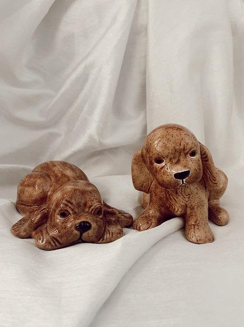 small ceramic puppy figurine